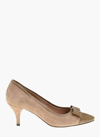 Divarese Kısa Topuklu Ayakkabı Vizon